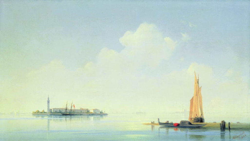 The harbour of Venice, the island of San Georgio, 1844