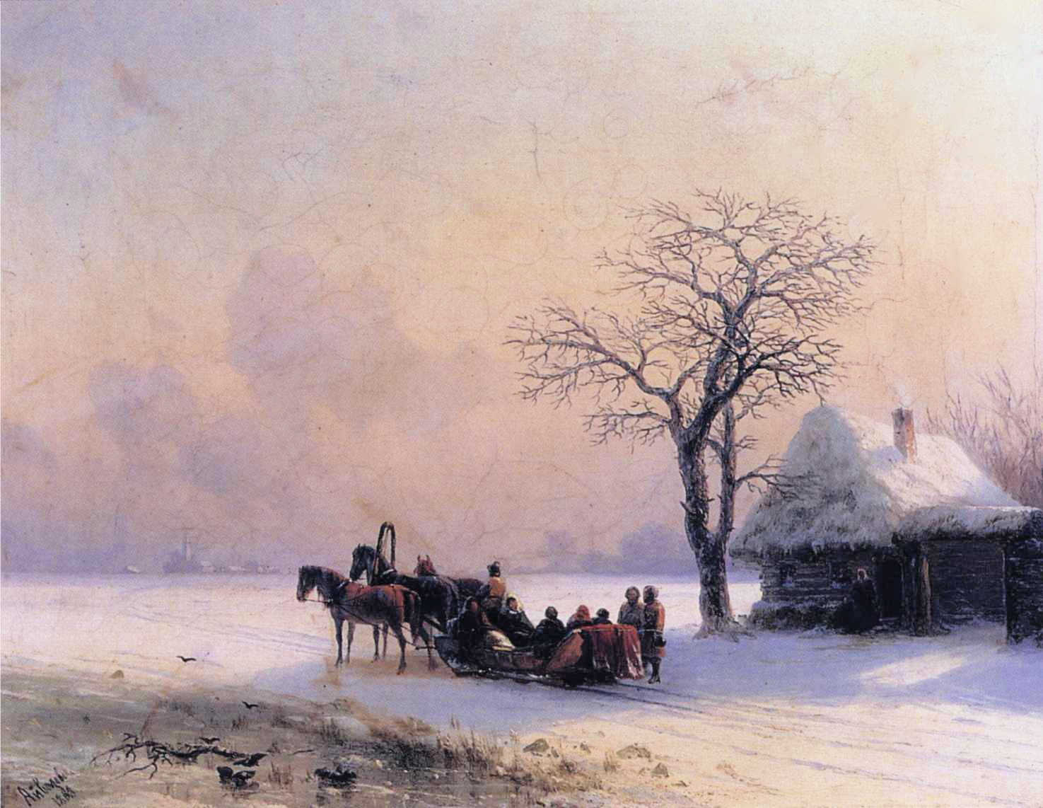 Image result for aivazovsky winter