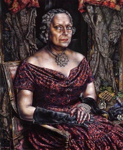 Portrait of Mary Block - Ivan Albright