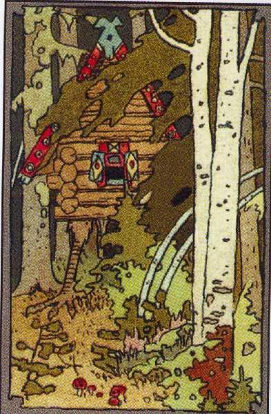 """Illustration for the front cover of the book in the series """"Tales"""", 1899 - Ivan Bilibin"""