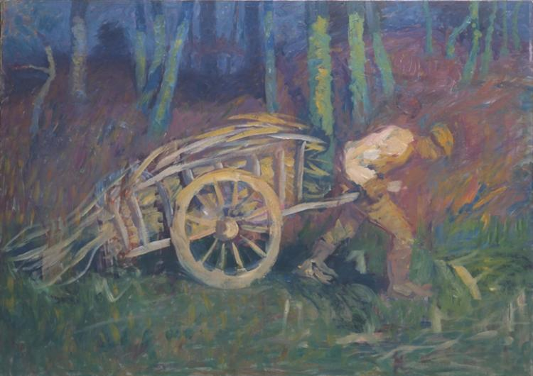 The man with the cart - Ivan Grohar
