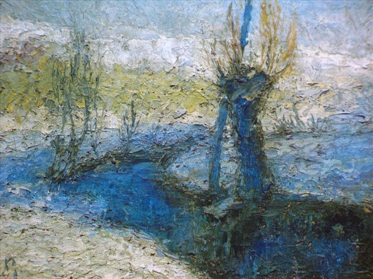 Willows along the stream, 1911 - Ivan Grohar