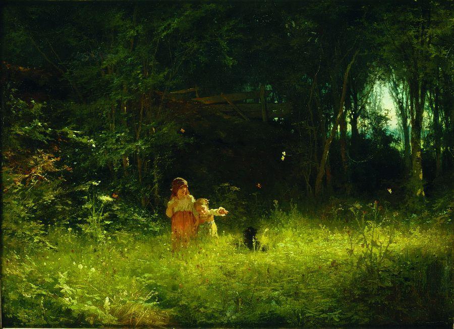 Дети в лесу 1887