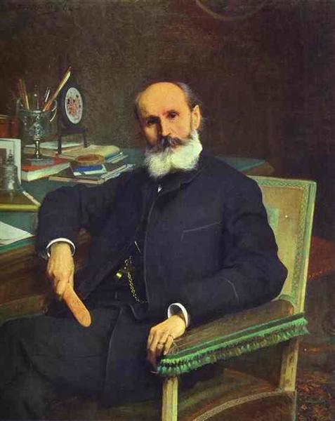 Portrait of Art Critic Pavel Kovalevsky, 1886 - Ivan Kramskoy