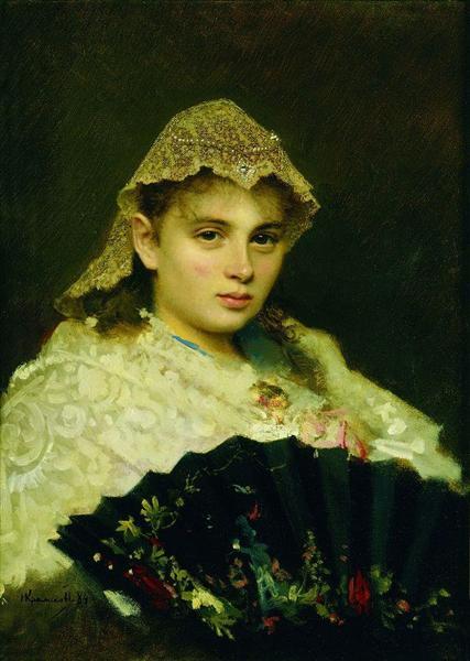Portrait of Olga Afanasiyevna Raftopulo, 1884 - Ivan Kramskoy