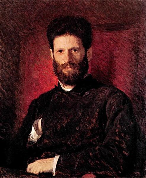 Portrait of sculptor Mark Matveevitch Antokolsky, 1876 - Ivan Kramskoy