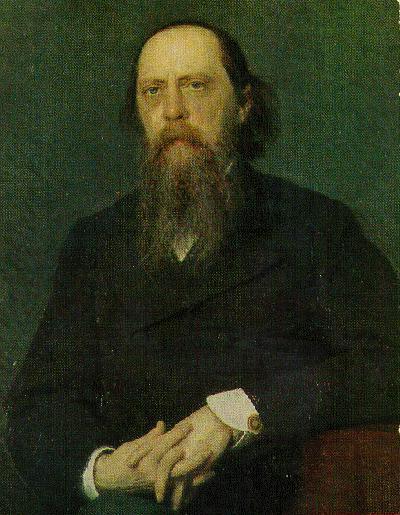 Portrait of the Author Mikhail Saltykov Shchedrin, 1879 - Ivan Kramskoy