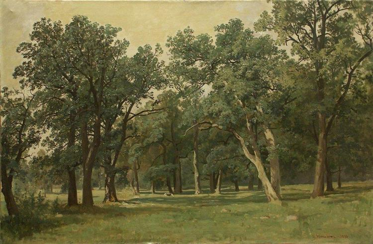 Forest Glade   Forest Glade 1889 Ivan Shishkin Wikiart Org