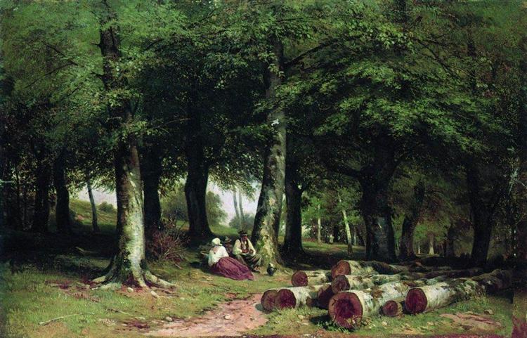 In the Grove, 1869 - Ivan Shishkin