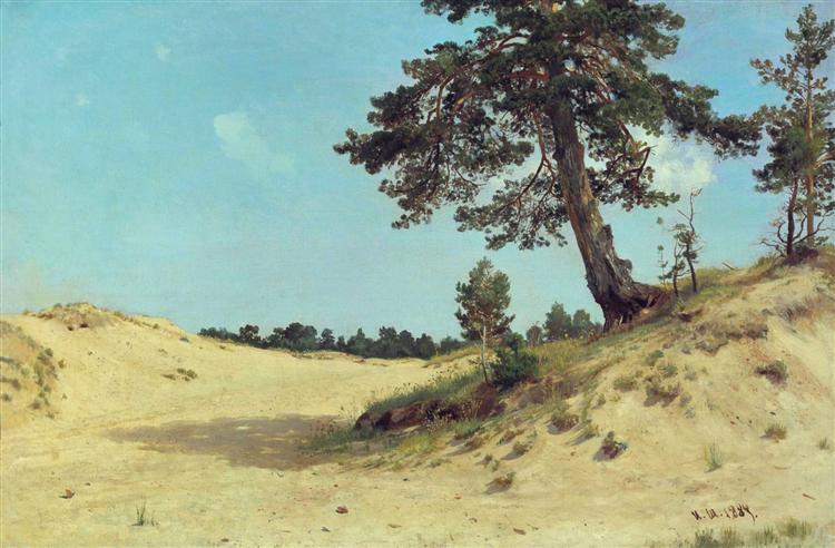 Pine on sand, 1884 - Ivan Shishkin
