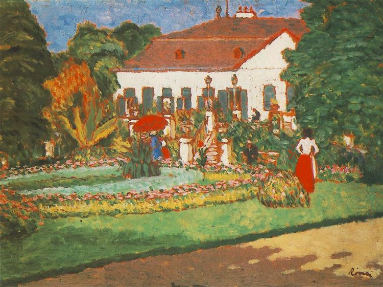 Manor-House at Körtvélyes, 1907 - József Rippl-Rónai