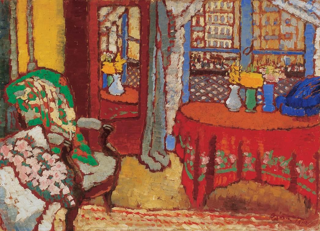 parisian interior 1910 jozsef rippl ronai. Black Bedroom Furniture Sets. Home Design Ideas