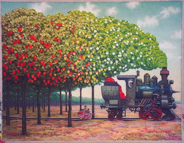 Философия в картинках - Страница 38 Strawberries-railway