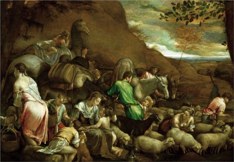 The Journey of Jacob, c.1561 - Jacopo Bassano