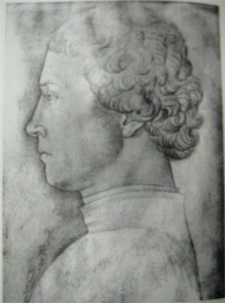 Profile of a man, c.1448 - Jacopo Bellini