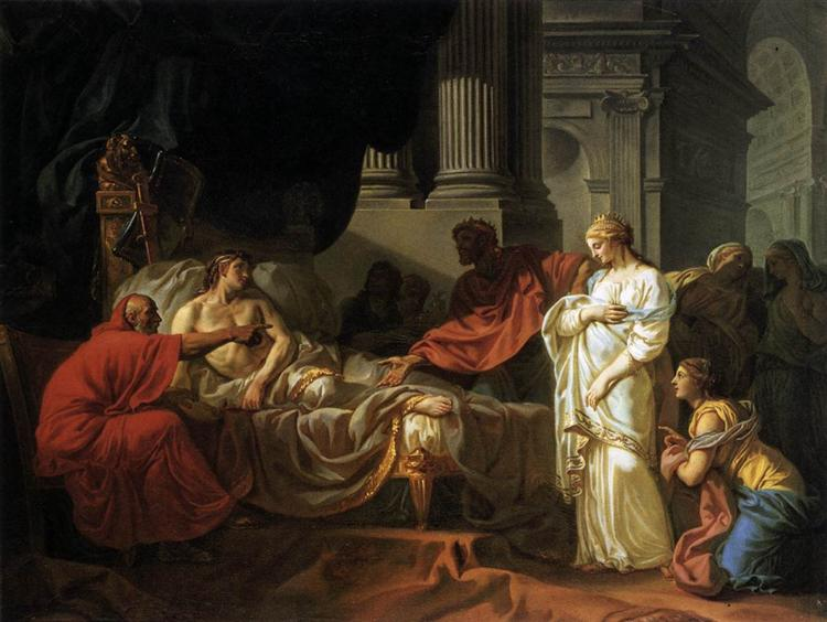 Antiochus and Stratonice, 1774 - Jacques-Louis David
