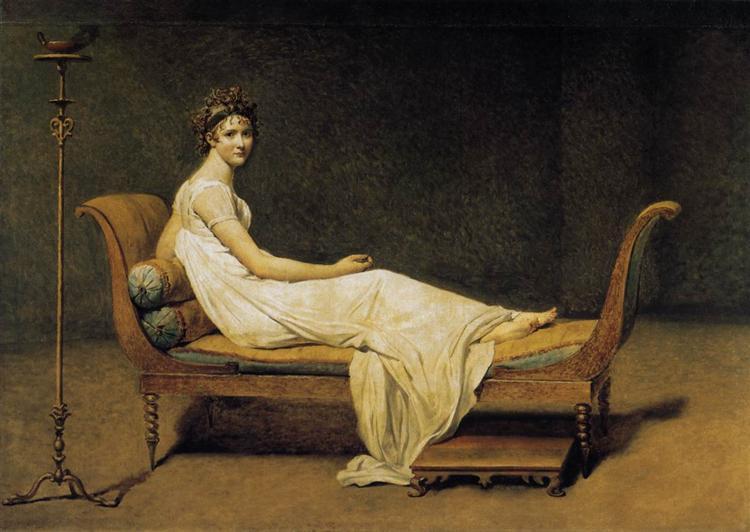 Madame Recamier, 1800 - Jacques-Louis David