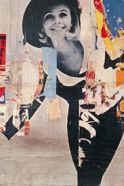 Rue Desprez et Vercingétorix - La Femme, 1966 - Jacques de la Villeglé