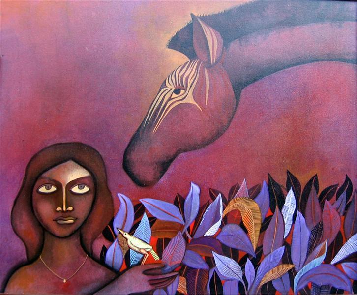 Zebra and Lady I - Jahar Dasgupta