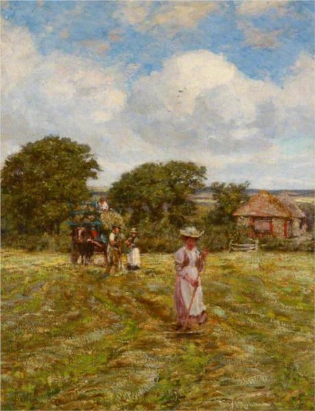 A Woman Hayraking - James Charles