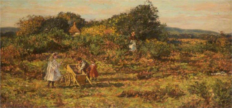 Gathering Berries - James Charles