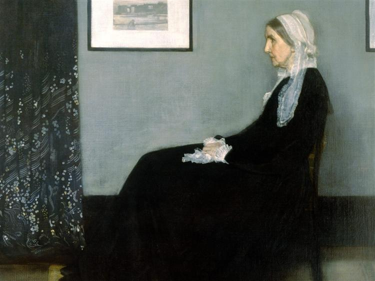 Arrangement in Grey and Black No.1, Portrait of the Artist's Mother, 1871 - Джеймс Эббот Макнил Уистлер