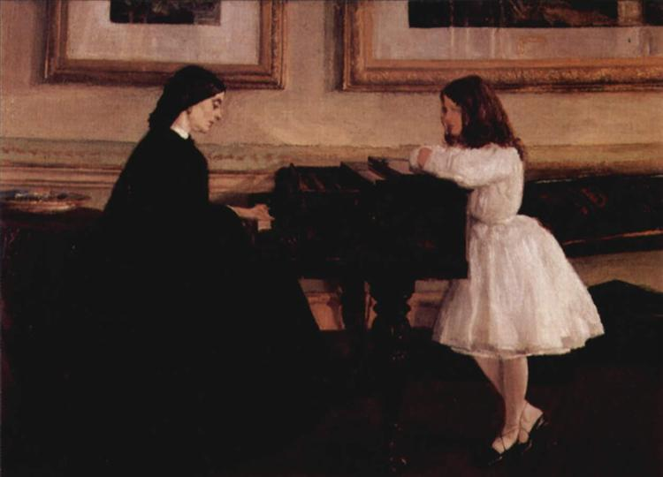 At the Piano, 1858 - 1859 - James McNeill Whistler