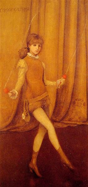 Harmony in Yellow and Gold The Gold Girl Connie Gilchrist, 1872 - 1873 - James McNeill Whistler