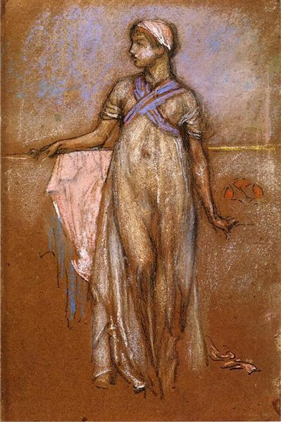 The Greek Slave Girl (or Variations in Violet and Rose), c.1885 - c.1886 - James McNeill Whistler