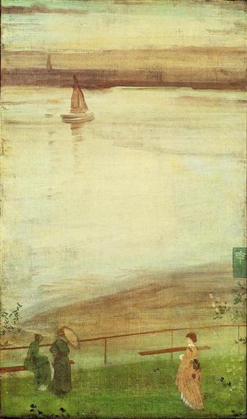 Blue Water Boats >> Variations in Violet and Green, 1871 - James McNeill Whistler - WikiArt.org