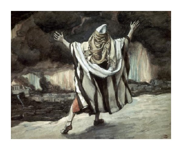 Abraham Sees Sodom in Flames - James Tissot