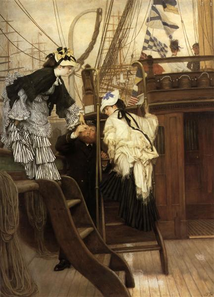 Boarding the Yacht, 1873 - Джеймс Тиссо