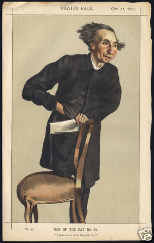 Man of the day No.34° - Caricature of Charles Voysey, 1871 - James Tissot