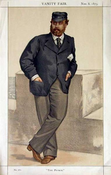 Caricature of Edward, Prince of Wales, 1873 - James Tissot