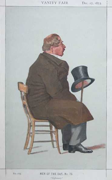 Man of the day No.75° - Caricature of Percy William Doyle C.B., 1873 - James Tissot