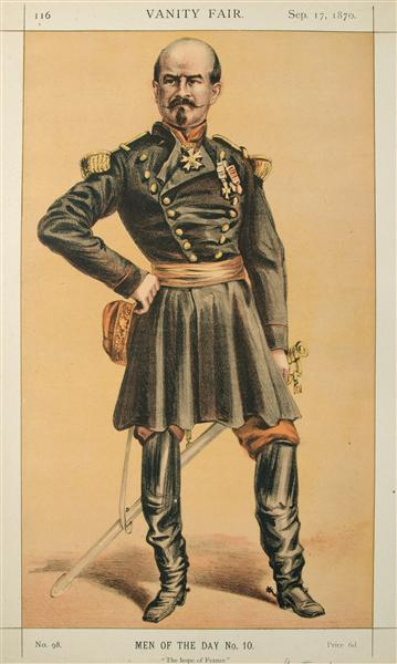 Men of the Day No.100 Caricature of Gen Louis Jules Trochu, Caption reads - Джеймс Тиссо