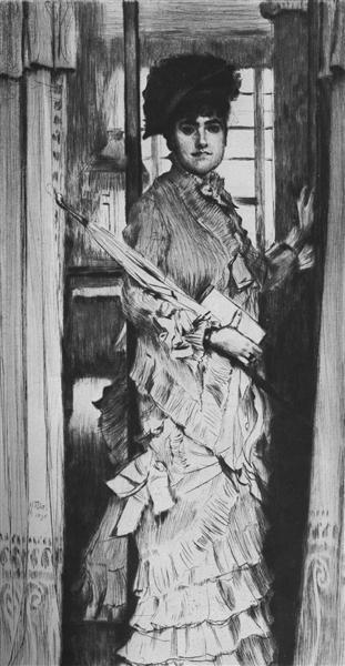 Portrait of Miss L., 1876 - James Tissot