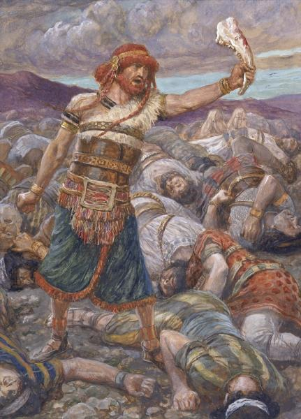 Samson Slays a Thousand Men, c.1896 - c.1902 - James Tissot