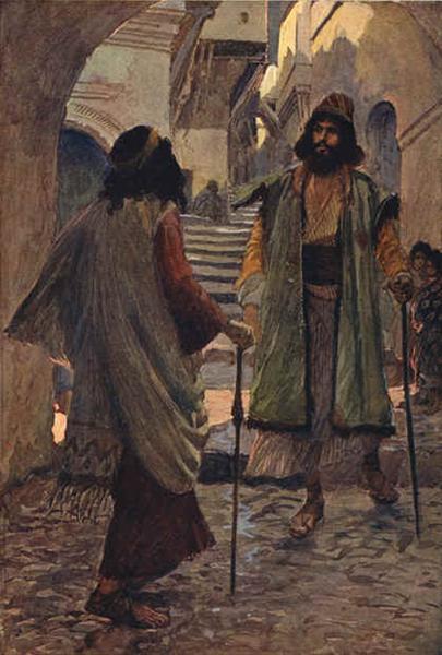 Saul meets with Samuel, 1896 - 1900 - James Tissot