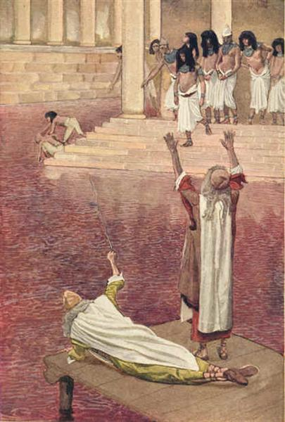 Water Is Changed into Blood - James Tissot