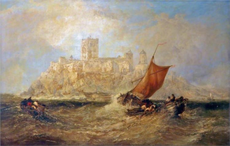 Bamburgh Castle, 1874 - James Webb