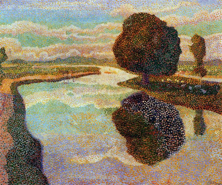 Landscape with canal, 1894 - Jan Toorop