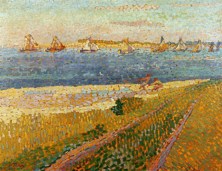 The fishing fleet of Veere - Jan Toorop