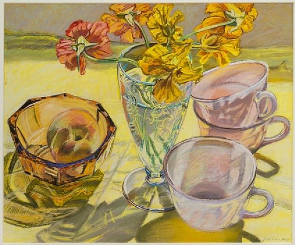 Nasturtiums and Pink Cups, 1981 - Janet Fish
