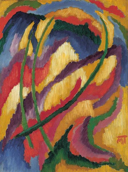 Composition, 1919 - Janos Mattis-Teutsch