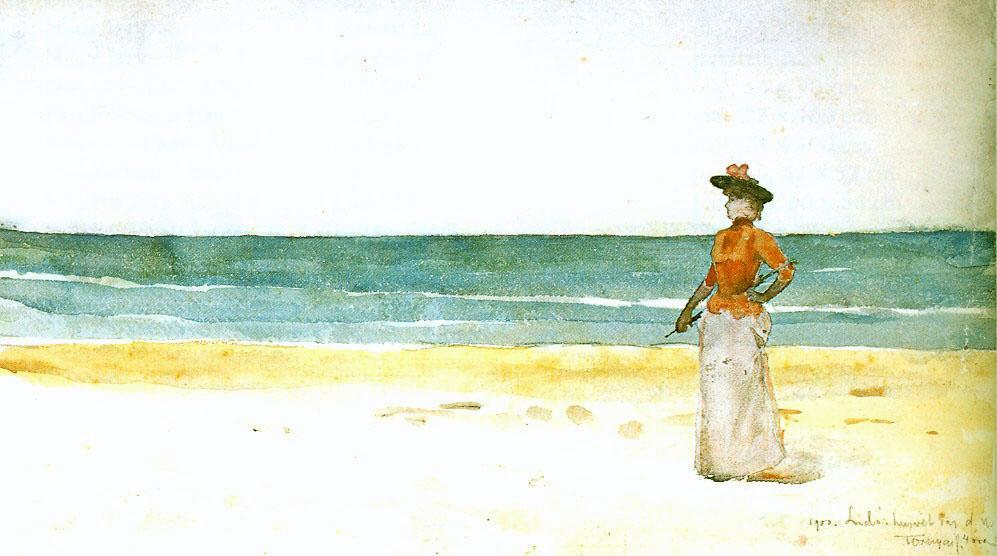On a seacoast, 1900
