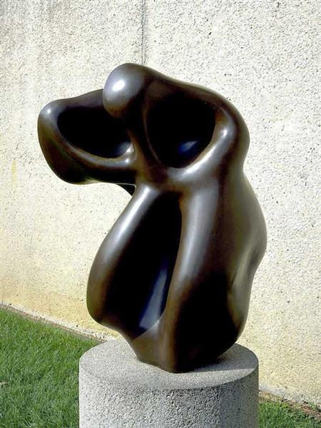 Evocation of a form: human, lunar, spectral, 1950 - Hans Arp