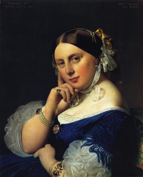 Delphine Ramel, Madame Ingres - Ingres Jean Auguste Dominique