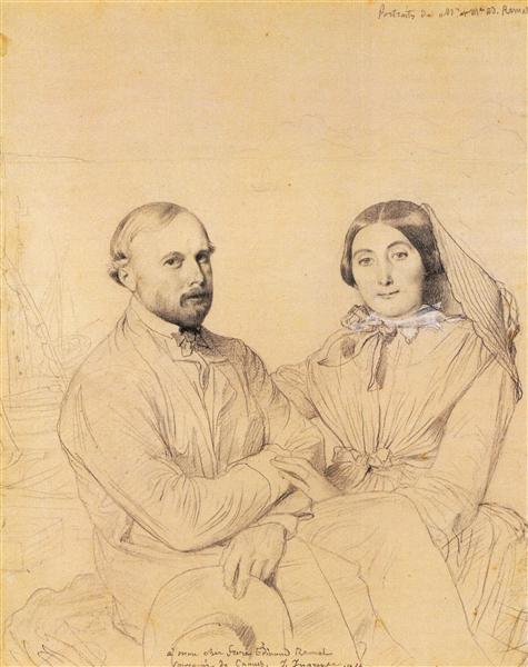 Edmond Ramel and his wife, born Irma Donbernard - Jean Auguste Dominique Ingres