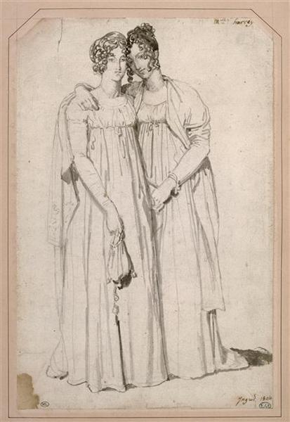 Henriette Harvey and her half sister Elizabeth Norton - Jean Auguste Dominique Ingres